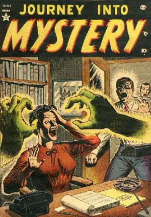 Journey Into Mystery (1952) #1, cover by Russ Heath.