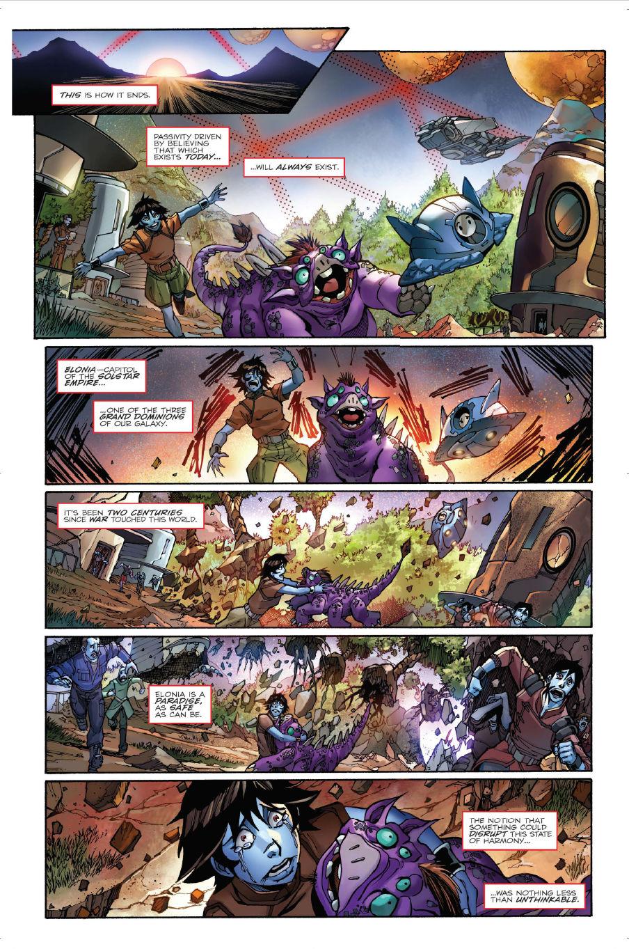 FCBD 2018 Transformers: Unicron #0 - Preview 1.