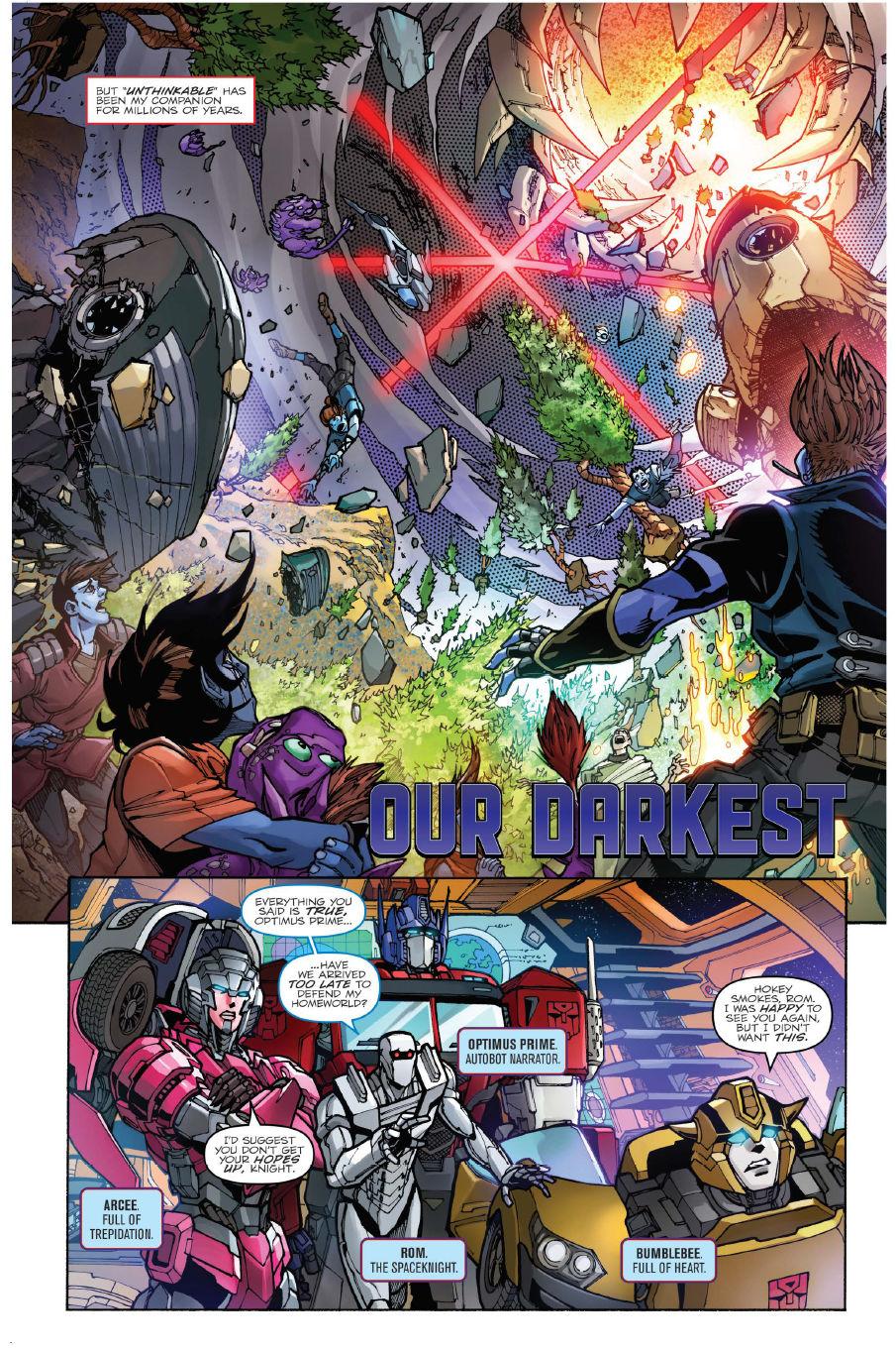 FCBD 2018 Transformers: Unicron #0 - Preview 2.