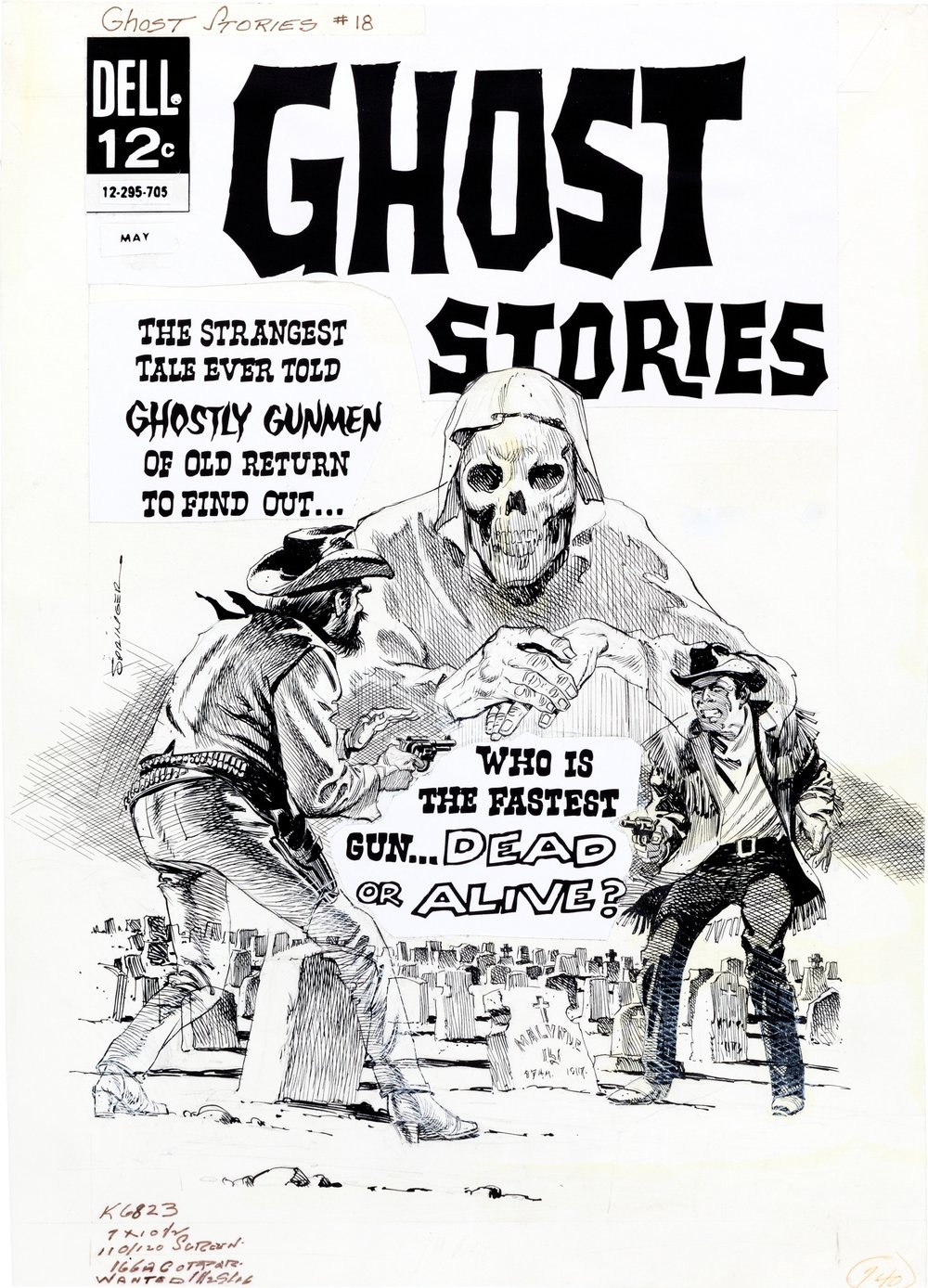Ghost Stories (1962) #18, original cover art by Frank Springer.