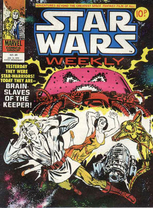 Star Wars Weekly (UK - 1978) #49, cover by Frank Springer.