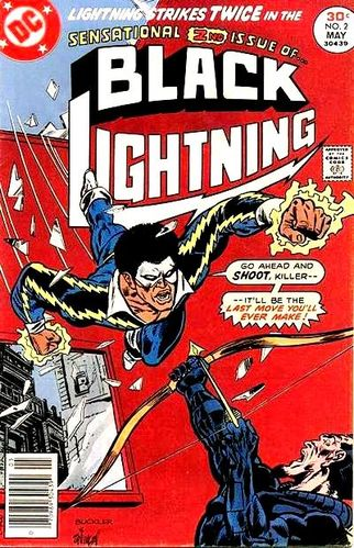 Black Lightning (1972) #2. Pencils by Rich Buckler, inks by Frank Springer.