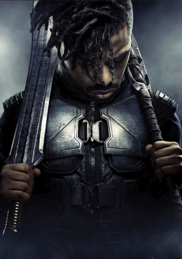 Michael B. Jordan as Erik Killmonger.