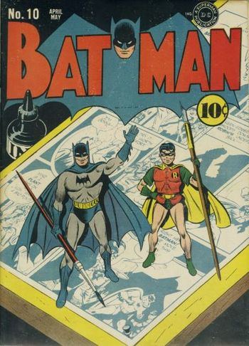 Batman (1940) #10, cover by Jerry Robinson.