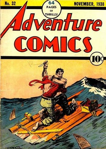 Adventure Comics (1938) #32, cover by Creig Flessel.
