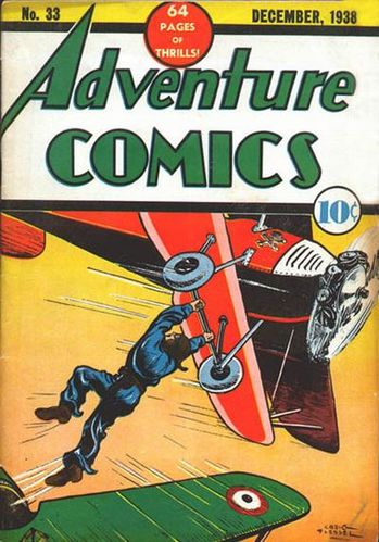Adventure Comics (1938) #33, cover by Creig Flessel.