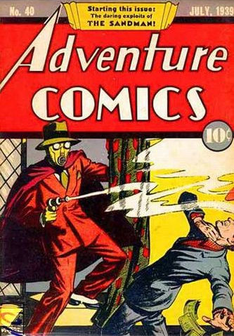 Adventure Comics (1938) #40, cover by Creig Flessel.