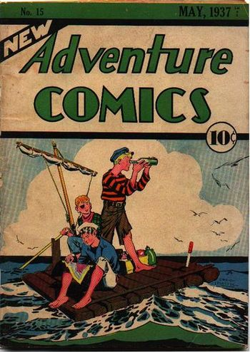 New Adventure Comics (1937) #15, cover by Creig Flessel.