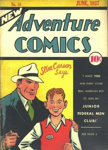 New Adventure Comics (1937) #16, cover by Creig Flessel.