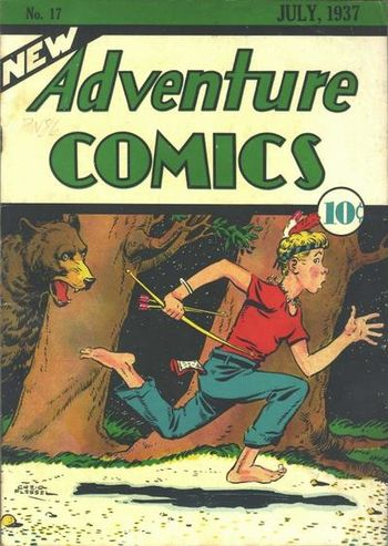 New Adventure Comics (1937) #17, cover by Creig Flessel.