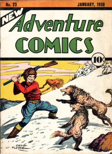 New Adventure Comics (1937) #23, cover by Creig Flessel.