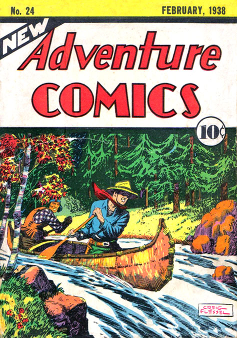 New Adventure Comics (1937) #24, cover by Creig Flessel.