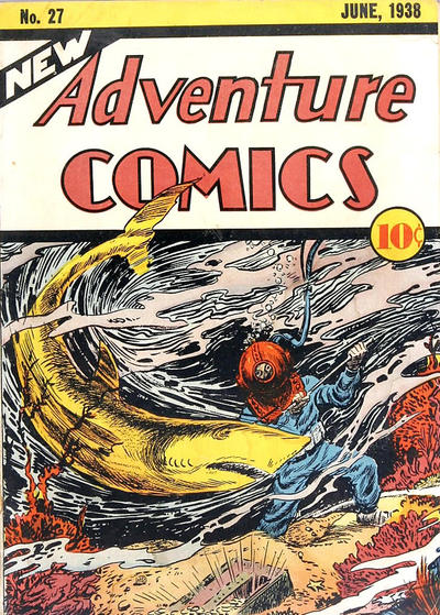 New Adventure Comics (1937) #27, cover by Creig Flessel.