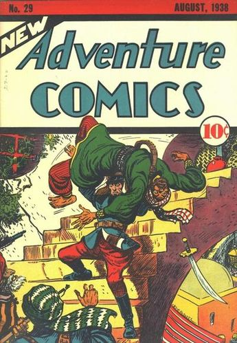 New Adventure Comics (1937) #29, cover by Creig Flessel.