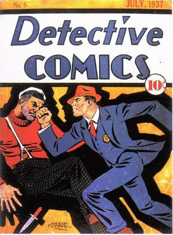 Detective Comics (1937) #5, cover by Creig Flessel.