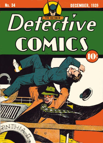 Detective Comics (1937) #34, cover by Creig Flessel.