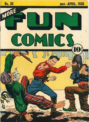 More Fun Comics (1936) #30, cover by Creig Flessel.