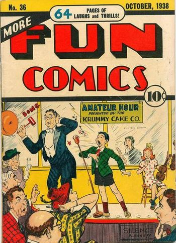 More Fun Comics (1936) #36, cover by Creig Flessel.