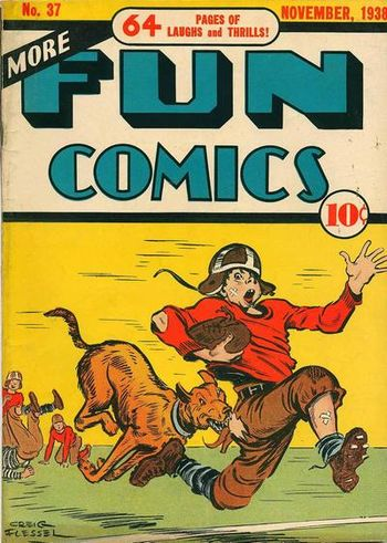 More Fun Comics (1936) #37, cover by Creig Flessel.