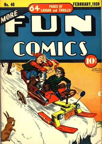 More Fun Comics (1936) #40, cover by Creig Flessel.