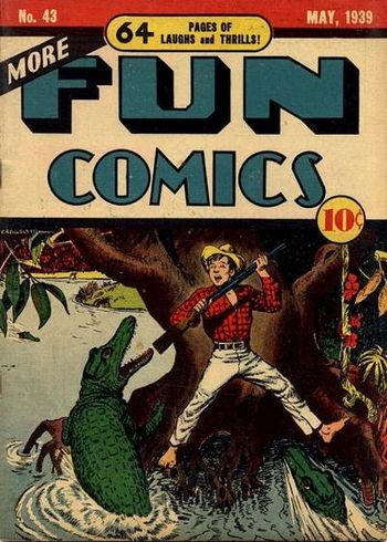 More Fun Comics (1936) #43, cover by Creig Flessel.