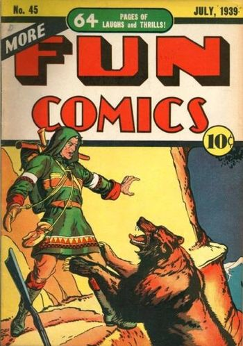 More Fun Comics (1936) #45, cover by Creig Flessel.