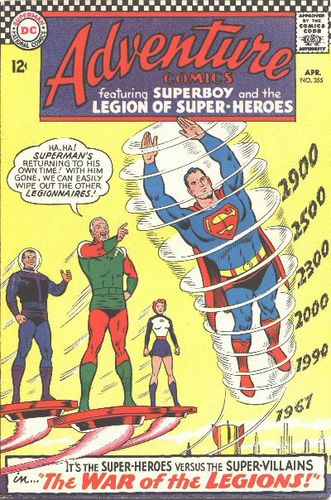 Adventure Comics (1938) #355, main story written by Jim Shooter.