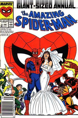 Amazing Spider-Man Annual #21, co-written by Jim Shooter.