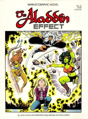 Marvel Graphic Novel #16 The Aladdin Effect, co-written by Jim Shooter.