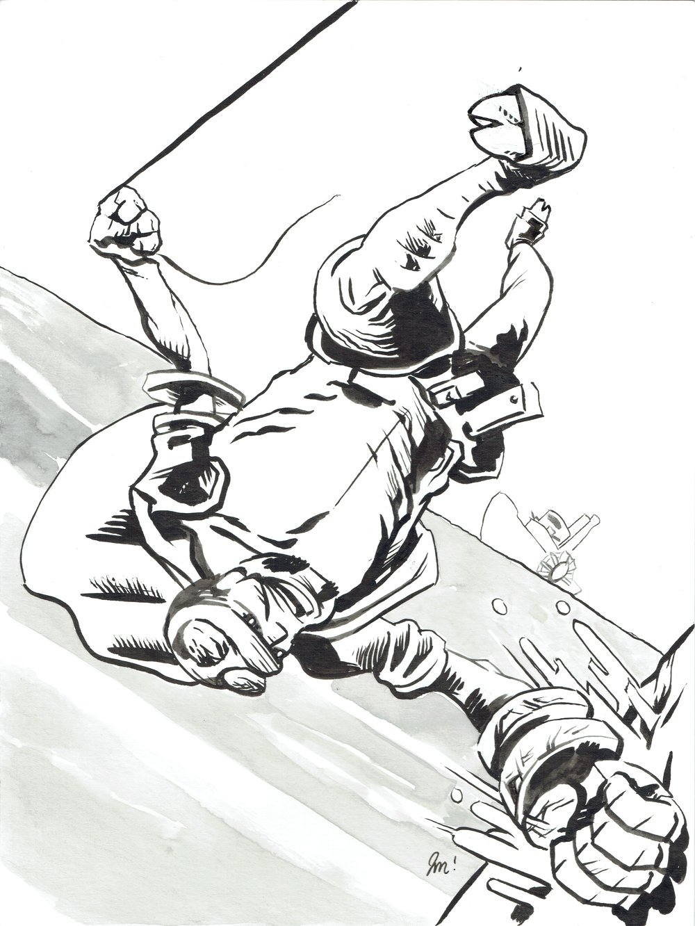 A commission of Hellboy done by J James McFarland