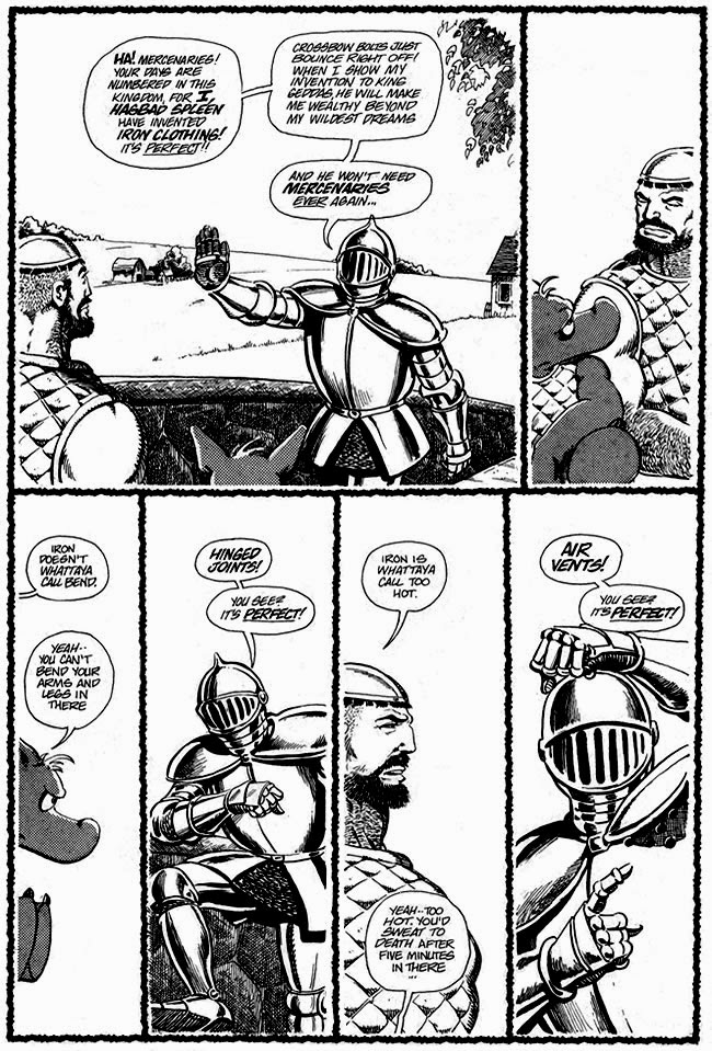 The First Invention Of Armour (Cerebus Jam #1, April 1985) Art by Murphy Anderson, with Dave Sim & Gerhard