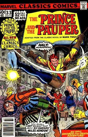 Marvel Classics Comics (1976) #33, cover penciled by John Romita Jr & inked by Tony DeZuniga.