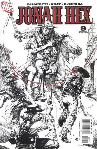 Jonah Hex (2006) #9, cover by Tony DeZuniga.