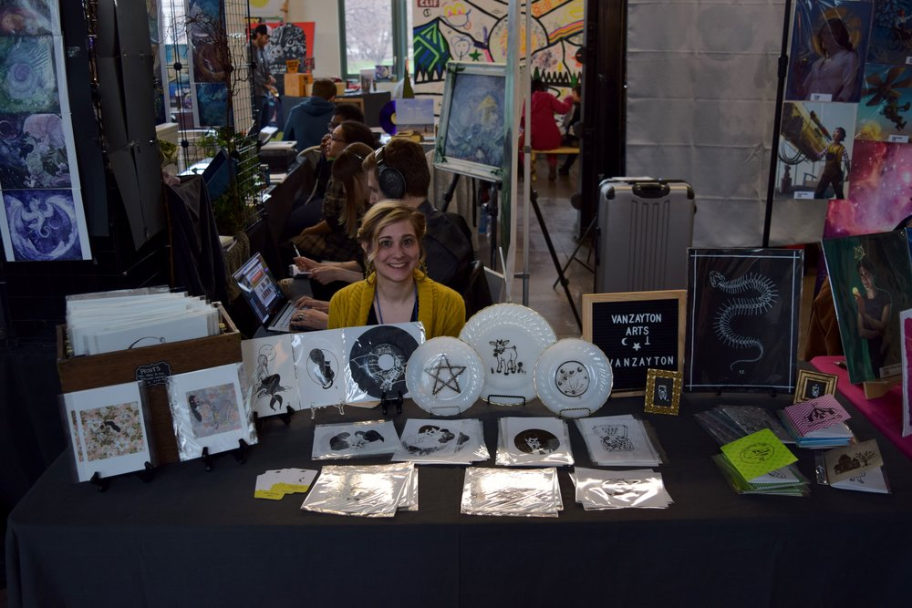 Aubrie Van Zandt  of Van Zayton Arts at DINK 2018.
