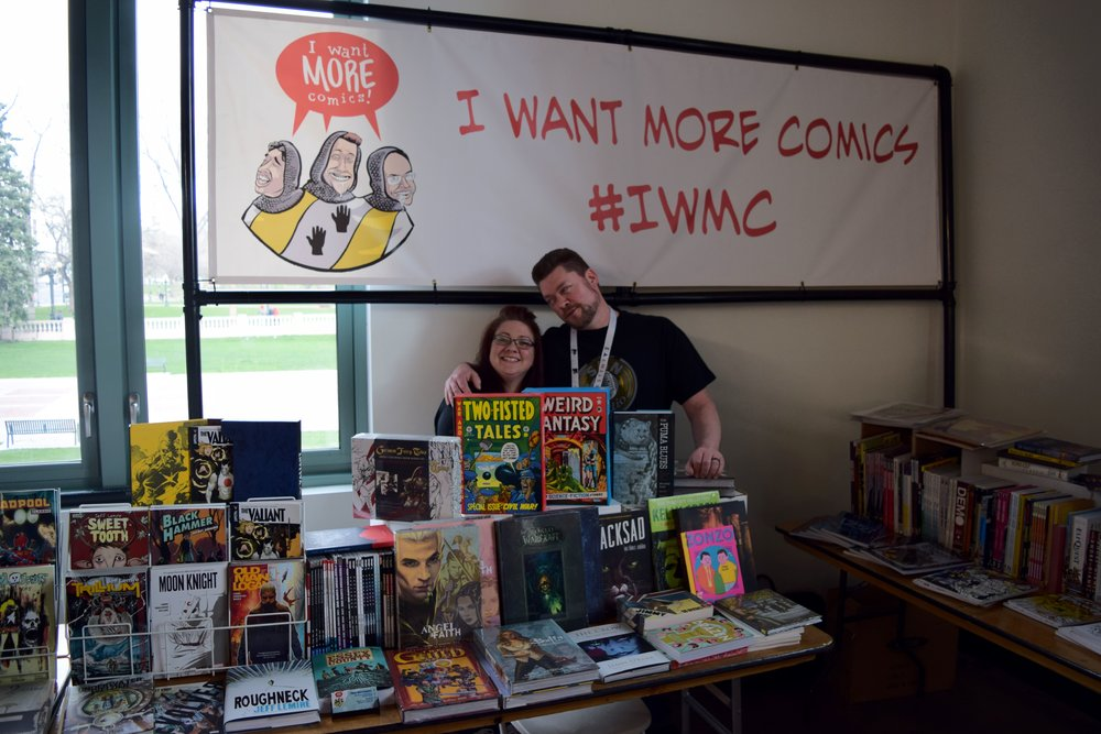 Sean Anderson of I Want More Comics at DINK 2018.
