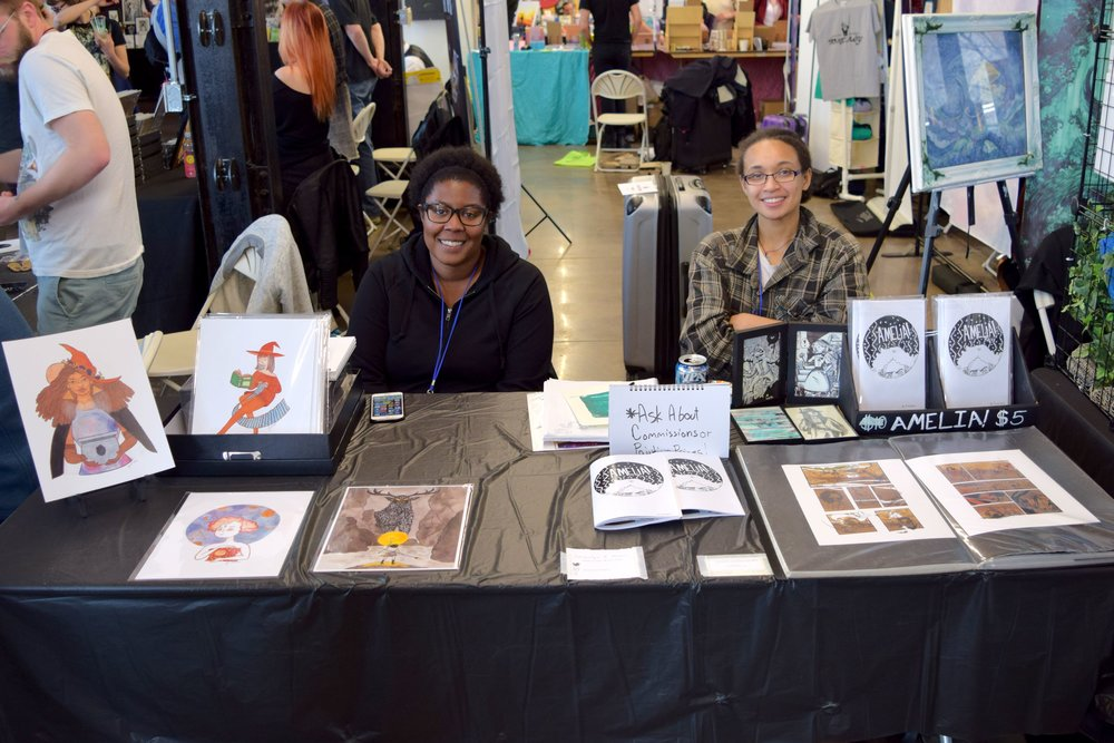 Jacquelyn B Moore & Thea Jovie Hunt at DINK 2018.