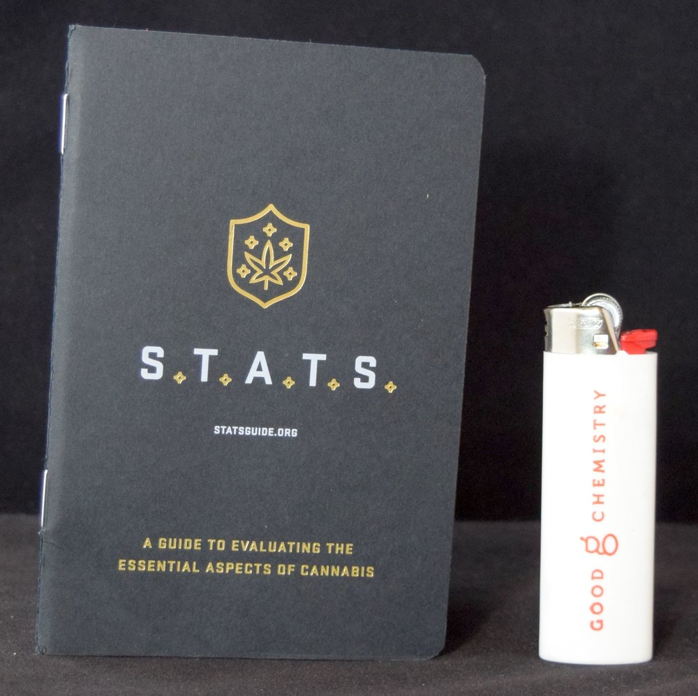 Good Chemistry was giving out free lighters and S.T.A.T.S. books.