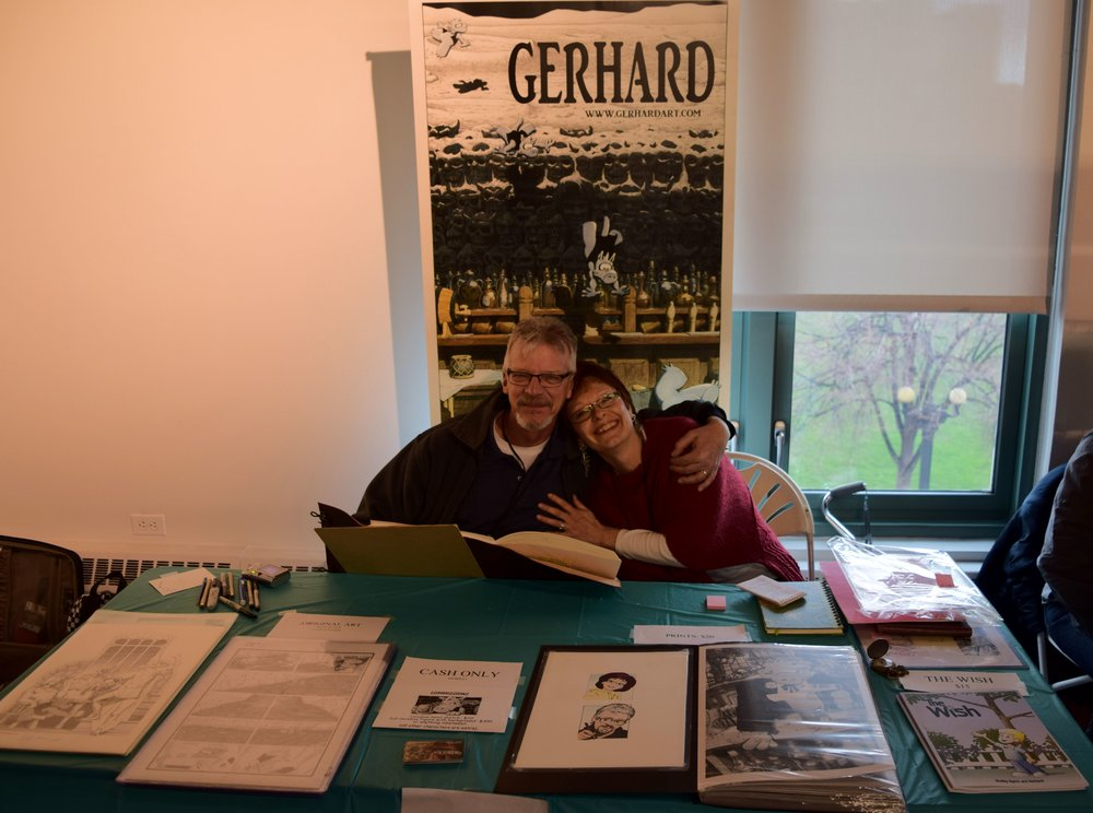 Gerhard and his lovely wife at DINK 2018.