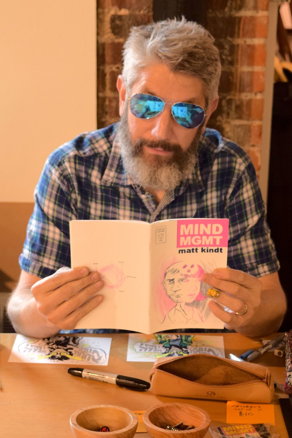 Matt Kindt at DINK 2018.