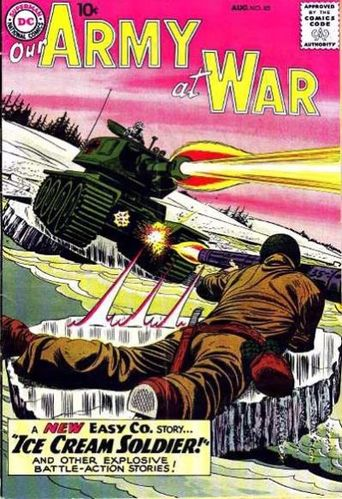 Our Army at War (1952) #85, cover by Jerry Grandenetti.