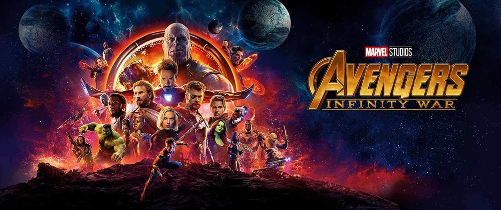 The Avengers: Infinity War (2018) Movie Banner.