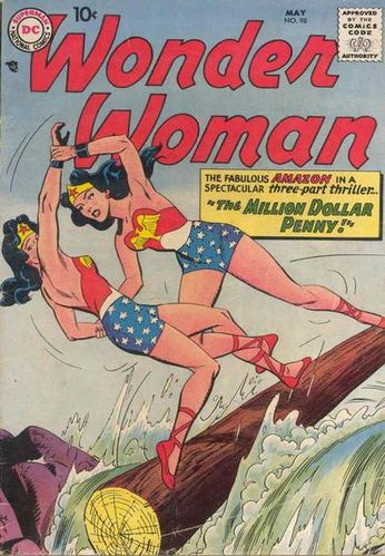 Wonder Woman (1942) #98, cover penciled by Ross Andru & inked by Mike Esposito.