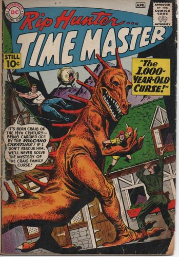 Rip Hunter Time Master (1961) #1, cover penciled by Ross Andru & inked by Mike Esposito.
