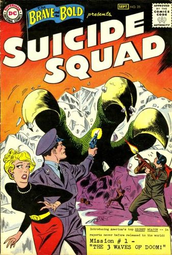 Brave and the Bold (1955) #25, cover penciled by Ross Andru & inked by Mike Esposito.