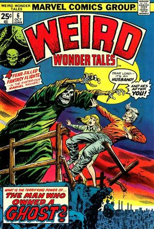 Weird Wonder Tales (1973) #6, cover penciled by Larry Lieber & inked by Mike Esposito.