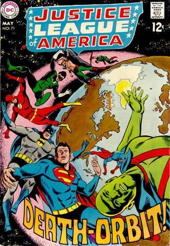 Justice League of America (1960) #71, cover penciled by Mike Sekowsky & inked by Mike Esposito.