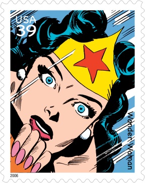 2006 Wonder Woman postage stamp. Art by Andru & Esposito.