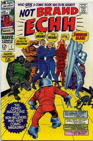Not Brand Echh (1967) #1, cover penciled by Jack Kirby & inked by Mike Esposito.