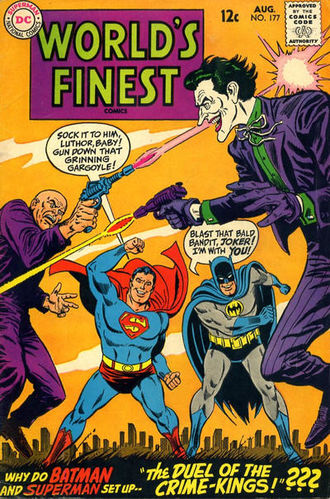 World's Finest Comics (1941) #177, cover penciled by Ross Andru & inked by Mike Esposito.