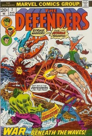 Defenders (1972) #7, cover penciled by John Romita & inked by Mike Esposito.